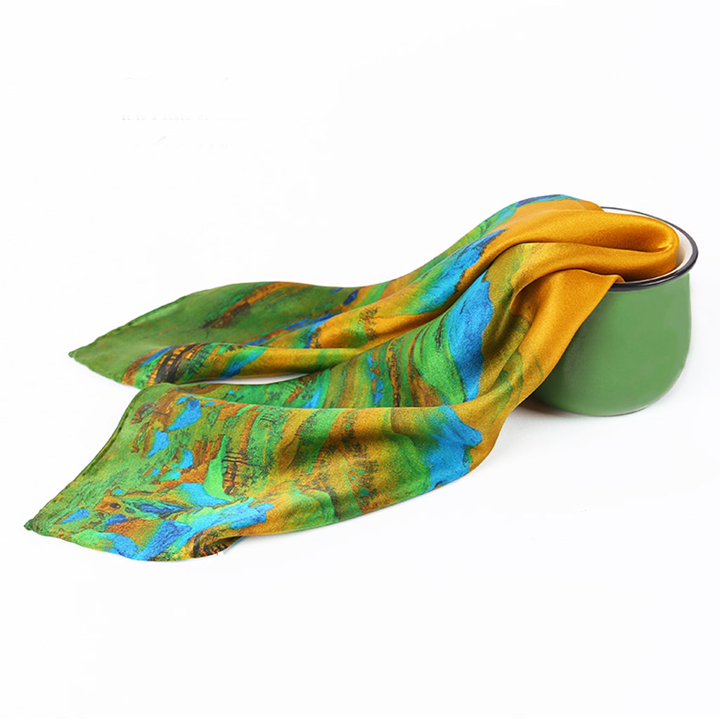 A THOUSAND MILES OF RIVERS AND MOUNTAINS Silk Scarves