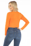 Virginia Cavaliers Long Sleeve Button Crop