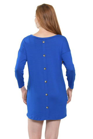 Button Back Pocket Dress