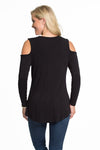 Purdue Boilermakers Long Sleeve Cold Shoulder