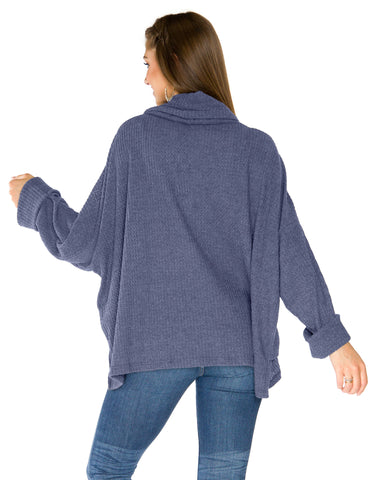 Georgia Southern Eagles Thermal Cowl Neck Top - Navy