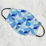 The Marlow Mask-Geo Blue