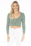 The Jayme Striped Crop Top