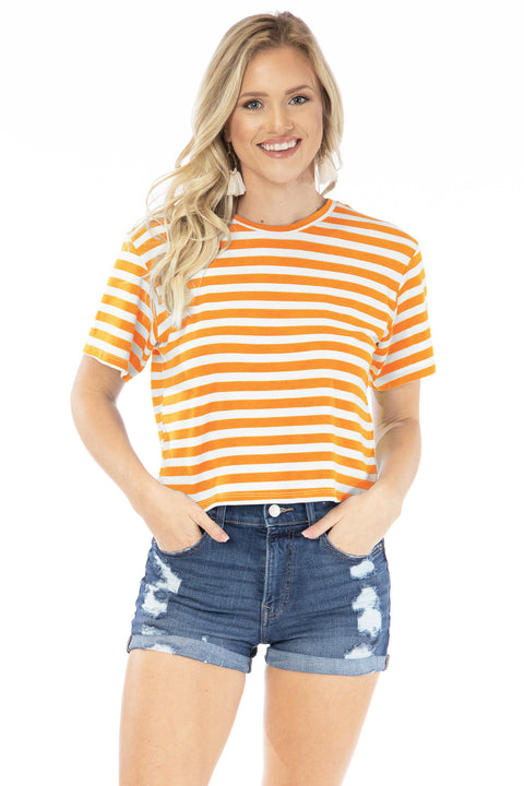 The Stephanie Striped Crop