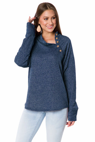 The Mariah Button Pullover