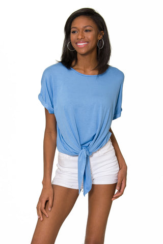 The Tia Tie Front Top