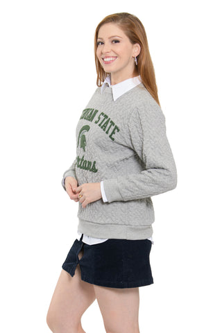 Michigan State Embroidered Jenny Sweatshirt