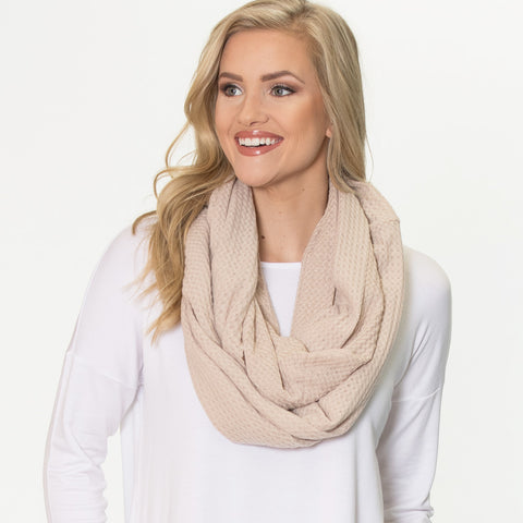 Thermal Infinity Scarf - Oatmeal