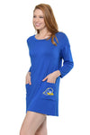 Delaware Blue Hens Brittany Button Back Dress