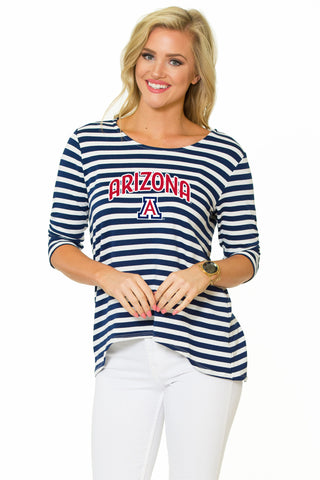 Arizona Wildcats Holly Striped Top