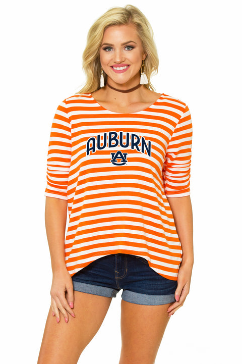 Auburn Tigers Holly Striped Top