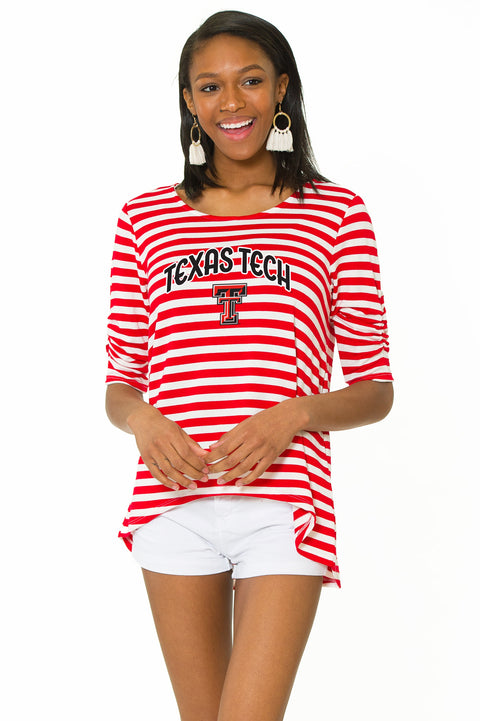 Texas Tech Red Raiders Holly Striped Top