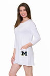 Michigan Wolverines Button Back Pocket Dress