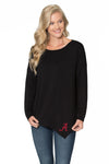 Alabama Crimson Tide Womens Asymmetrical Tunic-Black