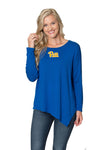 Pitt Panthers Womens Asymmetrical Tunic - Royal