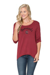 South Carolina Gamecocks Womens 3/4 Sleeve Top - Garnet