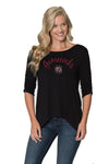 South Carolina Gamecocks Womens 3/4 Sleeve Top - Black