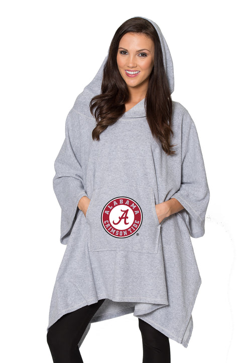 Alabama Crimson Tide Womens Oversized Sherpa Poncho