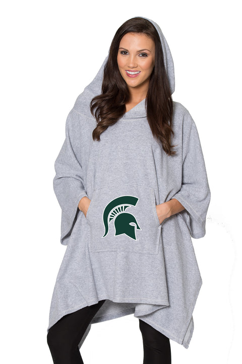 Michigan State Spartans Sherpa Poncho