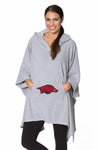 Arkansas Razorbacks Womens Oversized Sherpa Poncho