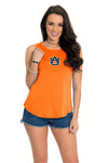 Auburn Tigers Keyhole Tie Back Top