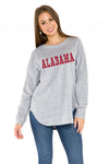 Alabama Crimson Tide Womens Sherpa Sweatshirt - Heather
