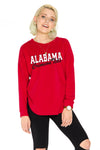 Alabama Crimson Tide Womens Sherpa Sweatshirt - Crimson