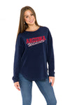 Arizona Wildcats Womens Sherpa Sweatshirt - Navy