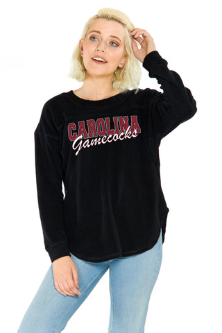 South Carolina Gamecocks Womens Sherpa Pullover - Black
