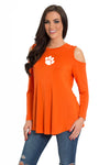 Clemson Tigers Long Sleeve Cold Shoulder