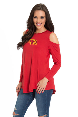 Iowa State Cyclones Courtney Cold Shoulder