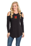 Maryland Terrapins Long Sleeve Cold Shoulder
