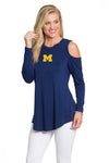 Michigan Wolverines Cold Shoulder Tunic