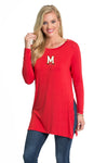 Maryland Terrapins Marie Side Slit Top