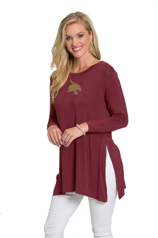 Texas State Bobcats Side Slit Tunic