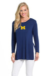 Michigan Wolverines Side Slit Tunic