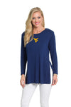West Virginia Mountaineers Side Slit Tunic