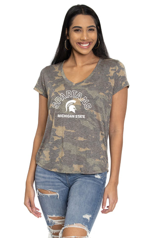 Michigan State Spartans Camo Vera Tee