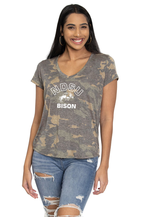 North Dakota State Bison Camo Vera Tee