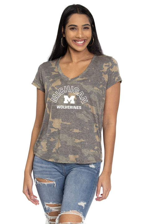 Michigan Wolverines Camo Vera Tee