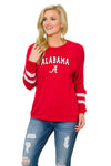 Alabama Crimson Tide Womens Long Sleeve Jersey - Crimson