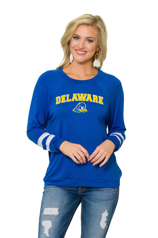 Delaware Blue Hens Womens Long Sleeve Jersey - Royal