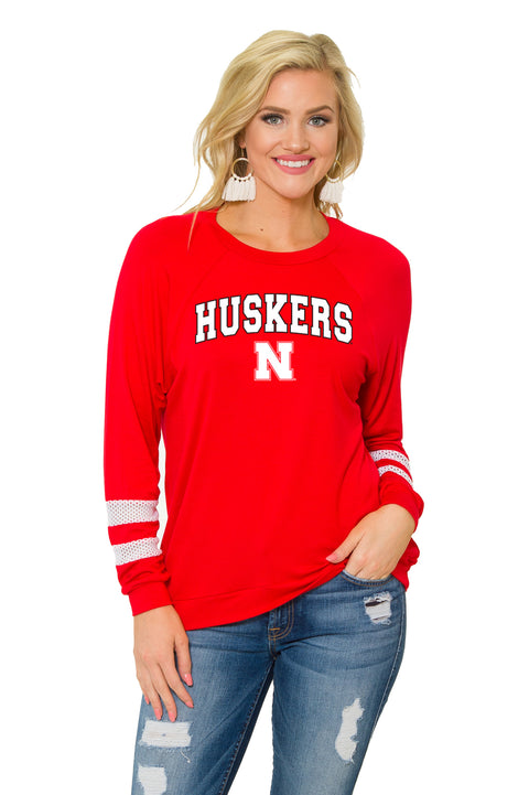 Nebraska Huskers Womens Long Sleeve Jersey - Red