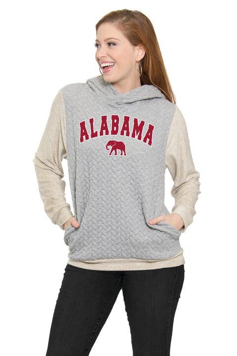 Alabama Crimson Tide Braided Jacquard Hoodie