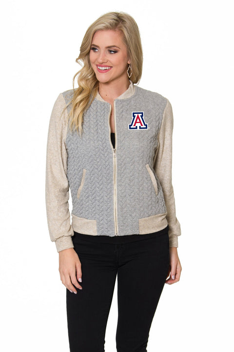 Arizona Wildcats Womens Braided Jacquard Jacket