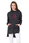 Alabama Crimson Tide Womens Hi-Lo Hoodie - Black