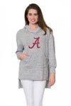 Alabama Crimson Tide Womens Hi-Lo Hoodie - Heather