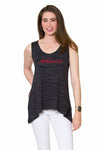 Arkansas Razorbacks Womens A-Line Tank - Black