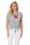 Alabama Crimson Tide Womens Tie Front Top - Heather