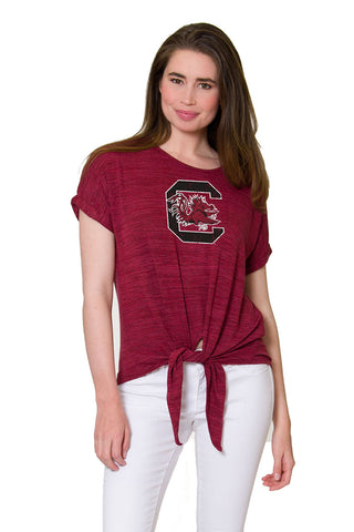 South Carolina Games Marnie Tie Front Top